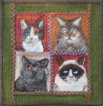 Cat Faces in Wool - PATTERN