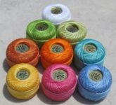 Nine Pearl Cotton Thread Balls size 8 Finca by Presencia