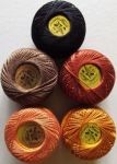 Five Pearl Cotton Thread Balls, size 8, Finca by Presencia