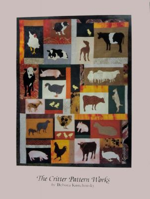 18 x 24 Poster - Farmyard Friends quilt