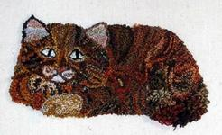 Punch Needle Striped Cat- PATTERN