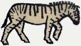 Punch Needle Zebra - PATTERN