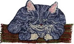 Punch Needle Sleeping Cat - PATTERN